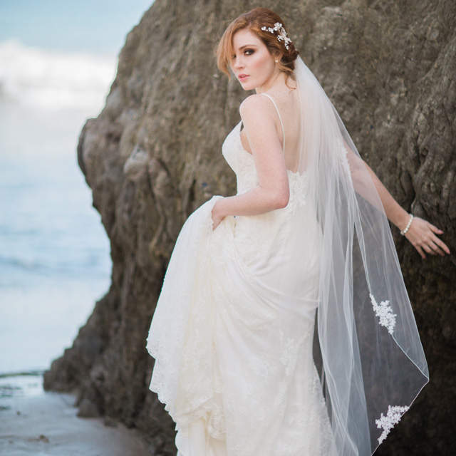 Beach wedding for Bel aire bridal jewelry