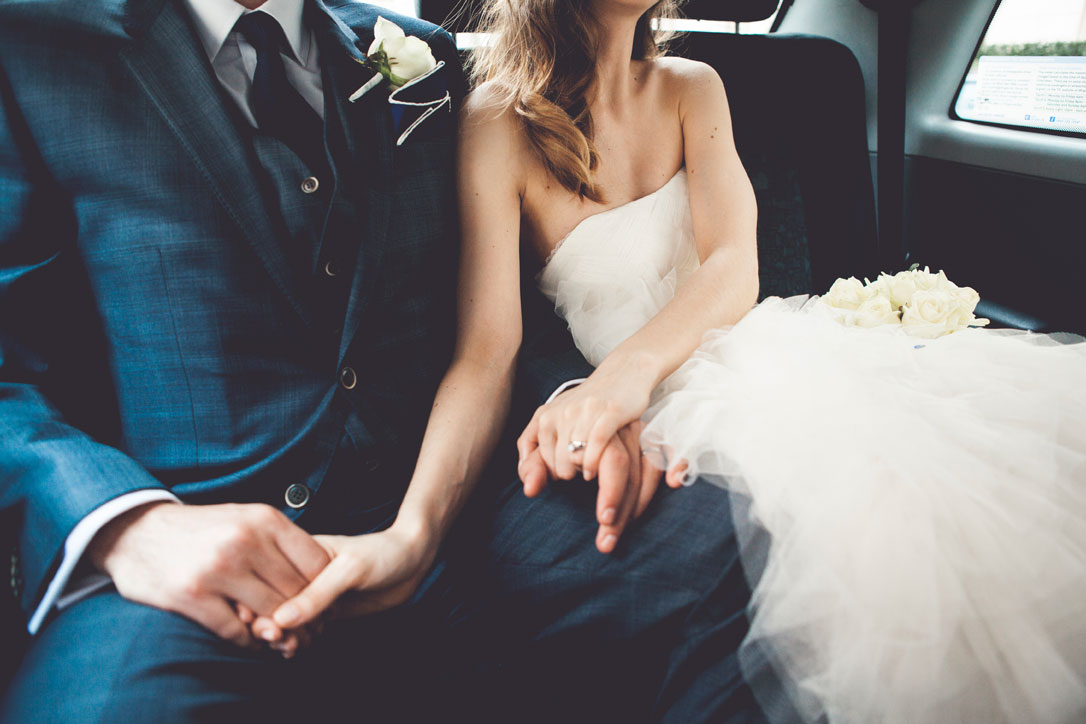 Bride-and-groom-in-a-car-000061275240_Large